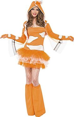 Fever Clownfish Tutu Dress With Detachable Straps Animal Hood Complete  Costume - apps price cdd7aa653