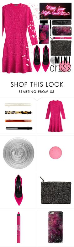 """""""new year party"""" by foundlostme ❤ liked on Polyvore featuring Alexander McQueen, Nails Inc., MAC Cosmetics, Casadei, Hush, Barry M, Casetify, Elizabeth Arden and minidress"""