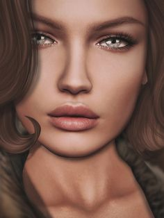 Uploaded by marie. Find images and videos on We Heart It - the app to get lost in what you love. Digital Art Girl, Digital Portrait, Portrait Art, Portraits, Watercolor Portrait Tutorial, Realistic Face Drawing, Second Life Avatar, Colored Pencil Artwork, Fantasy Girl