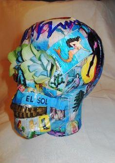 Sugar Skull Loteria Day of The Dead Dia de Los Muertos Skull | eBay