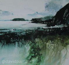 David Parfitt RI_Raggle rocks and Gateholm Mixed-Media 280mmx300mm
