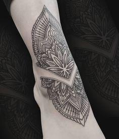 One of Louise's custom made Mandala designs... #tattoo #tattoos #calftattoo #tattooart #tattooink #tattooer #mandalatattoo #mehndi #ornamentaltattoo #floraltattoo #tattooartist #floralmandala #mandalatattoo #shintattoo #work #essex #essextattoo #colchester #mandala #dotwork #dotworktattoo #blackwork #uniquetattoo