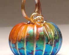Jack Pine Rainbow Glass Pumpkin (50045)