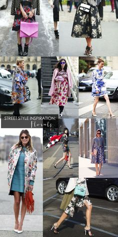street style fashion week inspiration - florals and floral prints - glitterinc.com