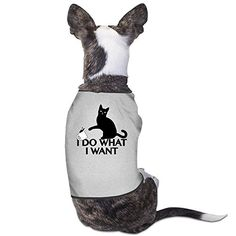 YRROWN I Do What I Want Dog Shirt >>> You can get more details by clicking on the image. #DogHoodies