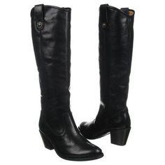 Women's Frye Jackie Button Black Leather Shoes.com
