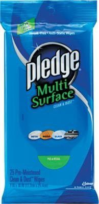 Pledge® Multi-Surface Clean & Dust Wipes, 12 Packs/Case