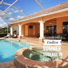 Preis pro Woche €1080 Das außergewöhnliche Ferienhaus in Cape Coral, im Florida-Baustil mit 220 qm Wohnfläche bietet bis zu 6 Personen allen erdenklichen Komfort für einen erholsamen Urlaub.