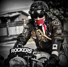 Rockers for sure! Triumph Cafe Racer, Cafe Racer Motorcycle, Racing Motorcycles, Motorcycle Style, Vintage Motorcycles, Motorcycle Gear, Triumph Bobber, Style Moto, Bike Style
