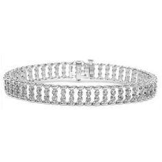 Diamantarmband mit 4.00 Karat Diamanten aus 585er Weißgold für nur 5090  Euro bei www.diamantring b9da8ffa81e4f