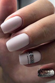 30 Perfect Bridal Nails Art Designs ❤ bridal nails white with silver tatyana_kor via instagram ❤ See more: http://www.weddingforward.com/bridal-nails/ #weddingforward #wedding #bride #weddingnails #bridalnails