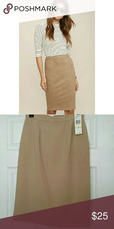 Jones New York Pencil skirt??NWT New with tags office pencil skirt for the business side of you. ??% wool. Knee length pencil skirt with back slit. Size 4.  COLOR Caramel. Jones New York Skirts Pencil