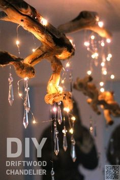 34 DIY #Chandeliers to Light up Your Life ... → DIY #Crystal
