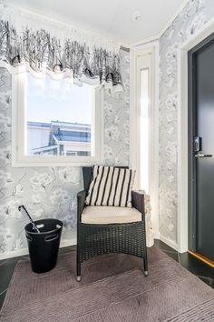 Suometar-talo (2h+k+s, 81,5 m²+yläkerta 38 m²) Valance Curtains, Home Decor, Decoration Home, Room Decor, Home Interior Design, Valence Curtains, Home Decoration, Interior Design
