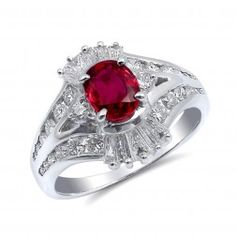 Beautiful engagement ring set with a natural heated Ruby at carats in Platinum and Diamonds weighing carats Beautiful Engagement Rings, Natural Ruby, Engagement Ring Settings, Statement Rings, Heart Ring, Jewelry Watches, Gemstones, Diamonds, Products