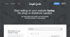 Simple Goods is another one of the few services for selling digital content such as eBooks, music and design work that accept credit card pa...