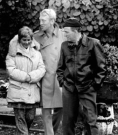 Bibi Andersson, Max Von Sydow and Ingmar Bergman Ingmar Bergman Films, Max Von Sydow, The Searchers, Hooch, Anais Nin, Good People, Hanging Out, Couple Photos, Wisdom