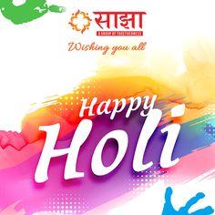 Saajhaa Wishing You All Happy Holi !!!  .................   #Saajhaa #DreamHome #HappyHoli #Holi #Festivals