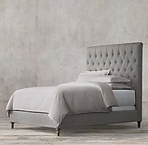 Chesterfield Fabric Panel Bed