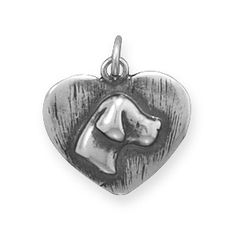 Oxidized Dog Silhouette Charm
