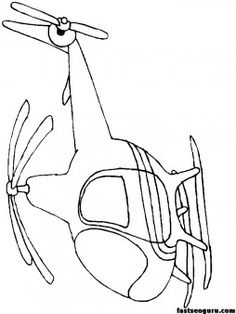 Print out childrens coloring pages Helicopters - Printable Coloring Pages For Kids