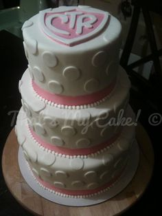 LDS baptism cake / CTR cake  By That's My Cake! SLC, UT