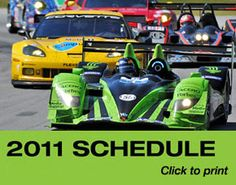 2011 American Le Mans Series Schedule #ALMS
