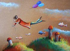 Rysunek pastelami fantazja, ilustracja Painting, Art, Art Background, Painting Art, Kunst, Paintings, Performing Arts, Painted Canvas, Drawings