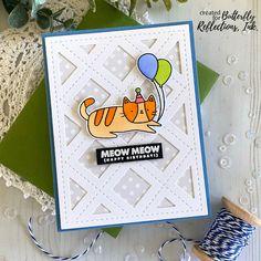 Birthday Kitties Cat Birthday, Birthday Cards, Bouquet Box, Fall Cards, American Crafts, Card Maker, Birthday Balloons, Flower Crafts, I Card