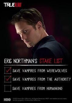 True Blood Season 6...Eric is gonna save vampires! Woo!