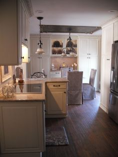 """2015 Kitchen Remodel Completed! Captured all my """"Pins' that I loved and put them together to create the beautiful Kitchen of my dreams!"""