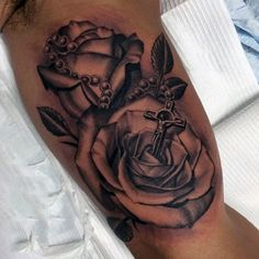 Top 103 Rosary Tattoo Ideas [2020 Inspiration Guide] Rosary Tattoo Wrist, Rosary Bead Tattoo, Rosary Tattoos, Garter Tattoos, Crown Tattoos, Bracelet Tattoos, Dragonfly Tattoo, Butterfly Tattoos, Rosary Beads