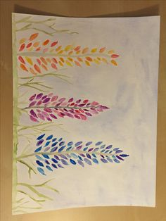 Watercolors for beginners: Lupine Flowers – A Sprinkle of Life