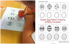 Easter Egg Pattern copying {FREE PRINTABLE} Your Kids OT