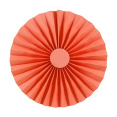 Coral Paper Rosettes, 12''   2 ct