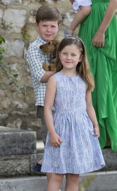 Denmark's Prince Christian and his sister  Princess Isabella attending a Photocall at Chateau de Cayx, 11.06.2014 in Luzech, France.