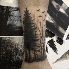 Tatuagem de Fillipe Pacheco. #tattoo #tatuagem #forest