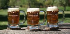 $116.00 for 8 mugs Commemorate your special day with custom engraved beer mugs for you and your groomsmen with your choice of 16 designs.