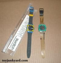 swatches and guards.... I loved them... I would wear 2 or 3 watches at a time lol