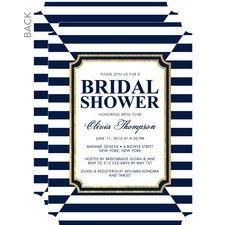Striking Elegance Bridal Shower Invitations