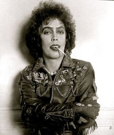 BROTHERTEDD.COM - lifeonmars70s:   Tim Curry as Frank n Furter Rocky Horror Show, Tim Curry Rocky Horror, The Rocky Horror Picture Show, Vintage Photographs, Vintage Photos, Tv Movie, Movies, Creatures Of The Night, Halloween Horror