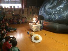Explicaremos cómo se formaron los planetas del Sistema Solar y sus movimientos desde la tierra. Planetarium en el colegio