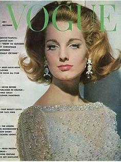 Vintage Vogue magazine covers - mylusciouslife.com - Vintage Vogue December 1961.jpg