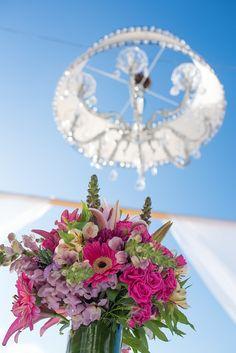 Your ceremonial table can have a gorgeous arrangement of flowers #DreamsSandsCancun #Mexico #Destinationwedding