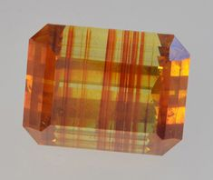 Emerald cut sphalerite with spectacular color zoning, 21.70 ct