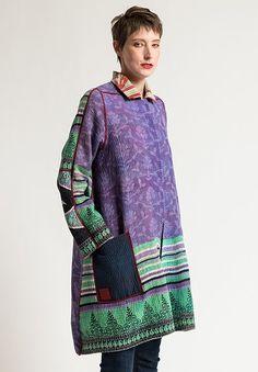 Mieko Mintz A-Line Duster Jacket in Lime/Lavender Santa Fe Dry Goods, Dress Up, High Neck Dress, Duster Jacket, Get Dressed, Line, Bali, Lavender, Layers