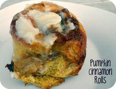 Six Sisters' Stuff: Pumpkin Cinnamon Rolls Recipe. Delicious for Thanksgiving morning!