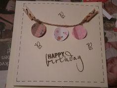 Geburtstag, Karte, einfache Geburtstagskarte