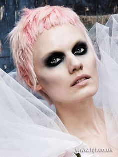 2009 cropped pink hairstyle        Hairstyle by: Shay Dempsey  Hairstyle picture by: Barry McCall  Salon: Sebastian Professional