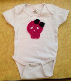Skull Onesie (your choice 32 colors) on Etsy, $15.00